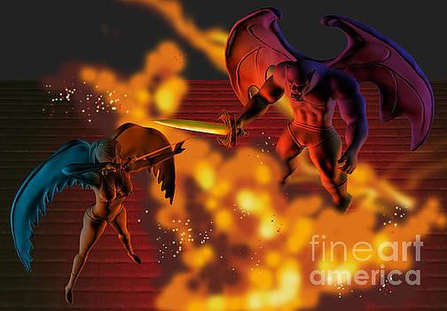 Angel Vs Monster by Kriss Orayan