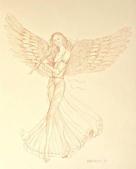 Angel with Flute by Deborah Dendler