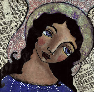 Angel with Purple Eyes by Julie-ann Bowden
