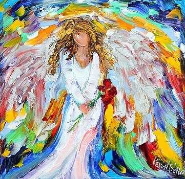 Angel with Roses by Karen Tarlton