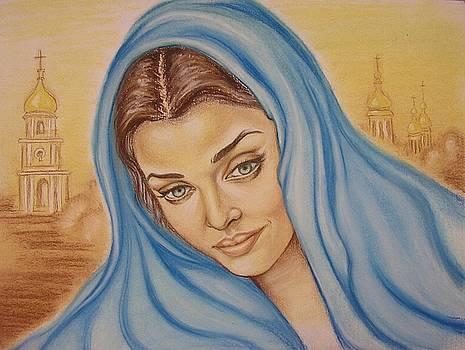 Angelic Aishwarya Rai. Kiev background. by Victoriya Kot