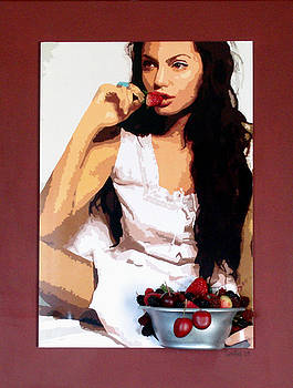 Angelina with Strawberries by Samitha Hess