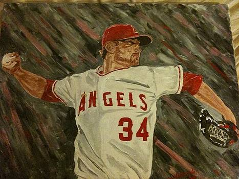 Angels 34 First Pitch by Daryl Williams Jr