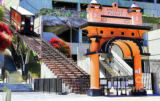 Chuck Kuhn - Angels Flight Los Angeles Color Downtown