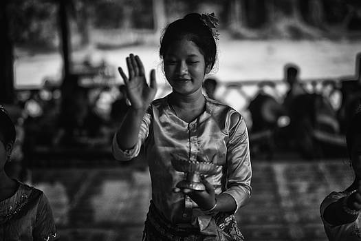 Angkor Wat Temple Dancer 1 by David Longstreath