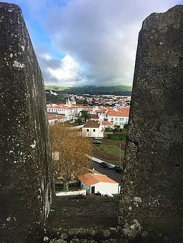 Angra do Heroismo from Forte de Monte Brasil by Kelly Hazel