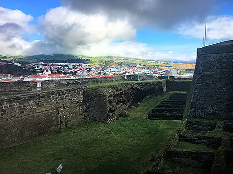 Angra do Heroismo from the Fort of Monte Brasil  by Kelly Hazel