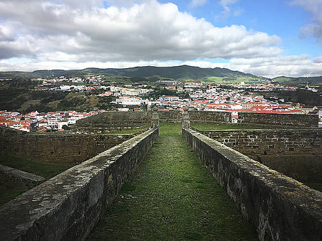 Angra do Heroismo from The Fortress of Sao Joao Baptista by Kelly Hazel