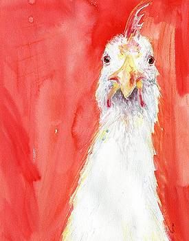 Angry Chicken 1 by Rachel Dutton