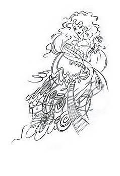 Angry Fairy by Agnese Kurzemniece