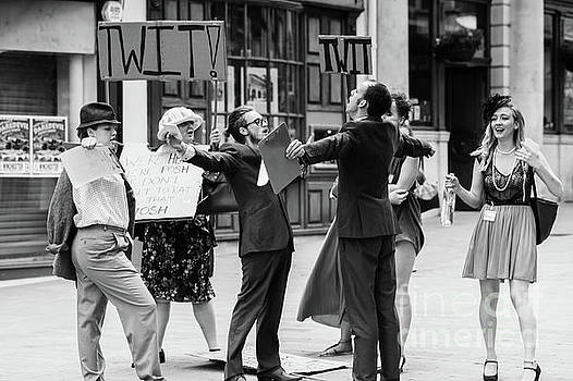 Angry mob demonstrating by Simon Bratt Photography LRPS