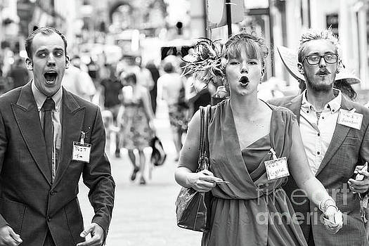 Angry mob protesting in highstreet by Simon Bratt Photography LRPS