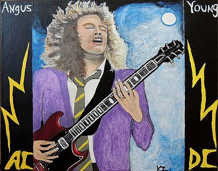 Angus Young forever. by Ken Zabel