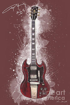 Angus Young Guitar by Tim Wemple