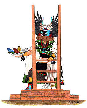 Angwusnasomtaka-Crow Mother Kachina by Alfred Dawahoya
