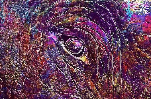 Animal Big Close Up Elephant  by PixBreak Art