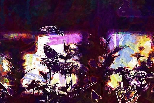 Animal Flowers And Butterflies  by PixBreak Art