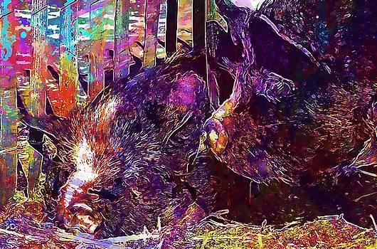 Animal Mammal Pig Hog  by PixBreak Art