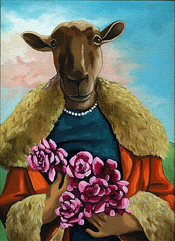 animal portrait - Flora Shepard by Linda Apple
