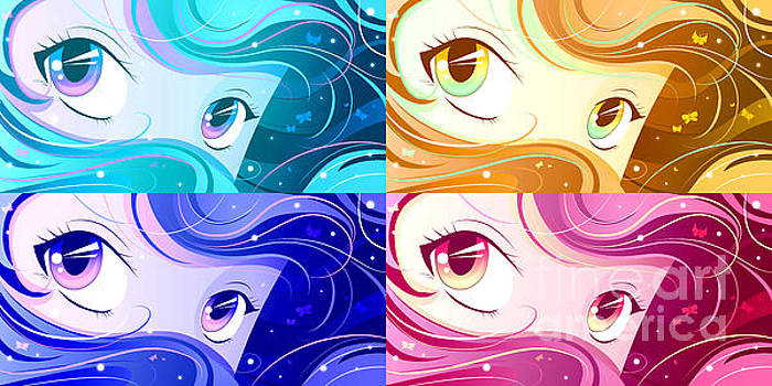 Anime eyes x4 by Sandra Hoefer