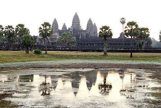 Angkor Wat Reflection Tom Wurl by Tom Wurl