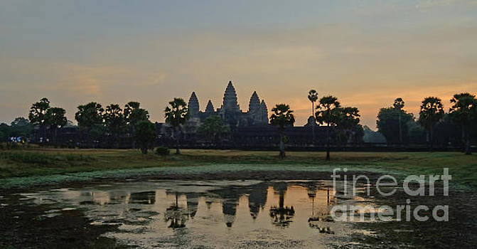 Angkor Wat Sunrise Pond by Tom Wurl