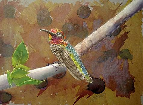 Anna's hummingbird by Joan Mansson