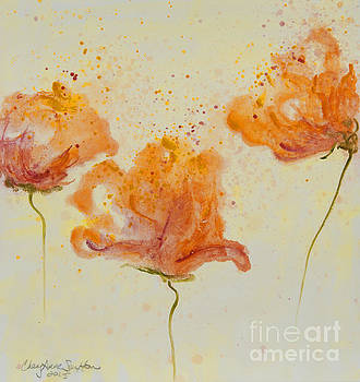 Annie's Dancing Poppies watercolor by CheyAnne Sexton