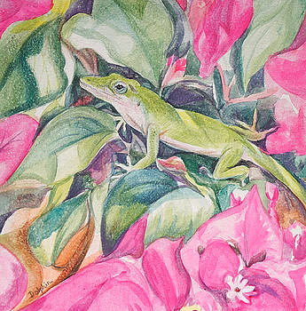 Anole Lizard by Gail Dolphin