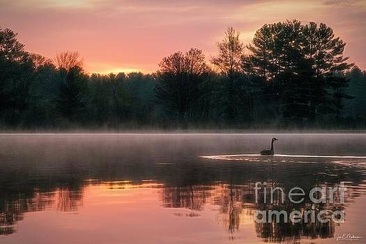 Another Beautiful Sunrise on the Androscoggin by Jan Mulherin