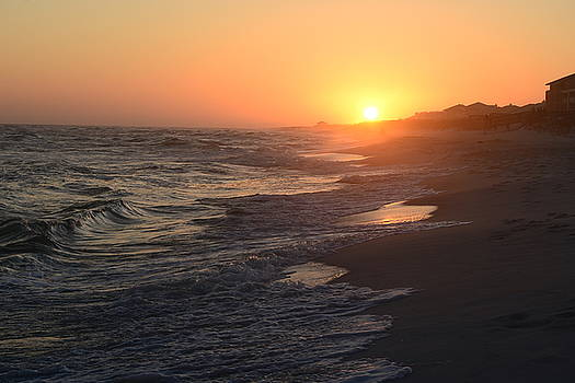 Another Sunset at Fort Pickens by Vonda Barnett