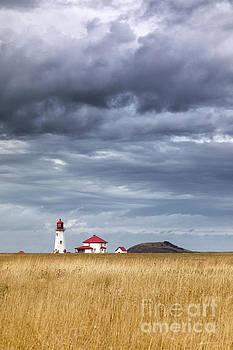 Anse a la Cabane lighthouse on the Magdalen Islands by Jane Rix