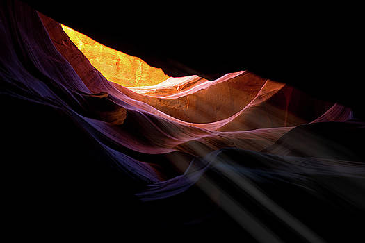 Antelope Canyon Light Rays by Christopher Francis