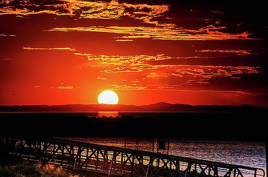 Antelope Island Marina sunset by Bryan Carter
