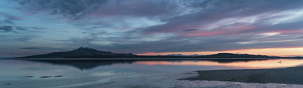Antelope Island Panoramic Sunset by Justin Johnson