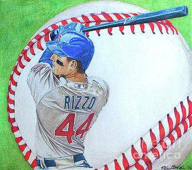 Anthony Rizzo 2016 by Melissa Goodrich