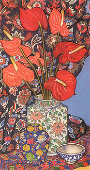 Anthurium Lilies by Richard Lee