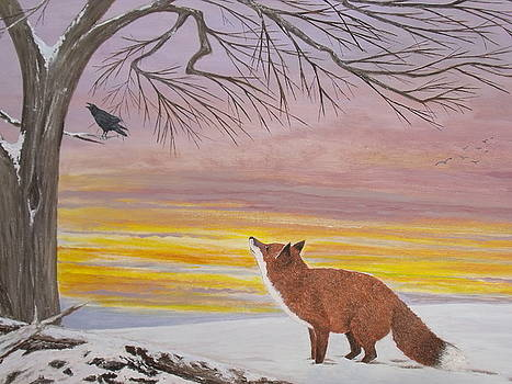 Anticipation -  Red Fox by Patti Lennox