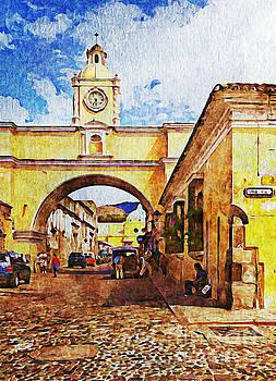 Tatiana Travelways - Antigua, Guatemala - Digital paint