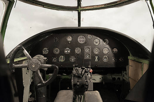 Antique Airplane Cockpit by Hans Engbers