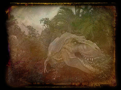 Aimee L Maher ALM GALLERY - Antique Amber Dinosaur