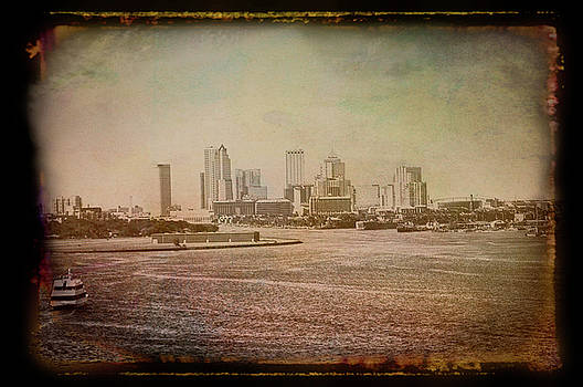 Aimee L Maher ALM GALLERY - Antique Amber Tampa Skyline