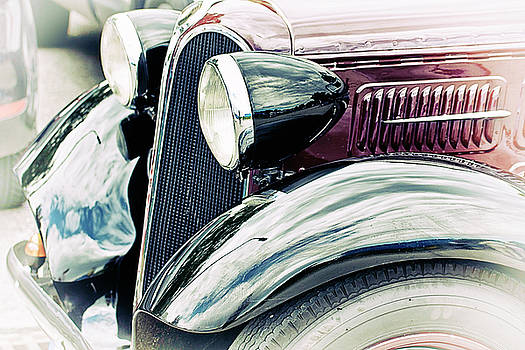 Antique BMW 315 car front-lateral view detail by Luisa Vallon Fumi