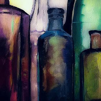 Antique Bottles  by Michele Carter