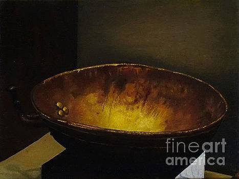 Antique brass bowl by Mitzisan Art LLC