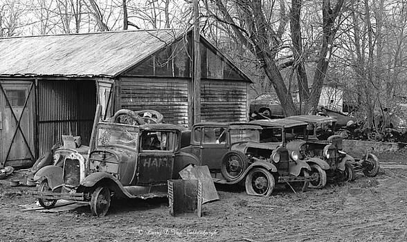 Antique Car Boneyard by Larry Van Valkenburgh