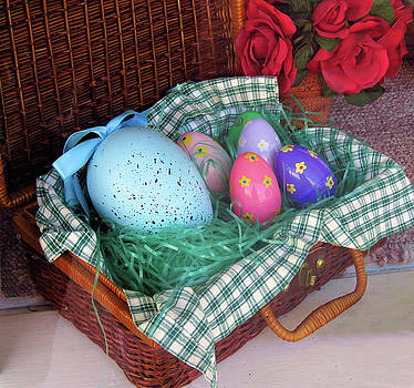 Antique Easter Basket by Rosalie Scanlon