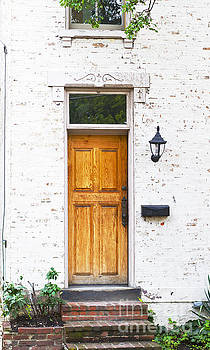 Antique Front Door and Flower Bed by ELITE IMAGE photography By Chad McDermott