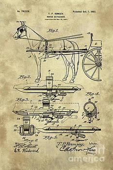 Tina Lavoie - Antique Horse Detacher Blueprint patent drawing plan from 1902