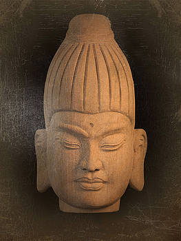 antique oil effect Buddha Burmese by Terrell Kaucher